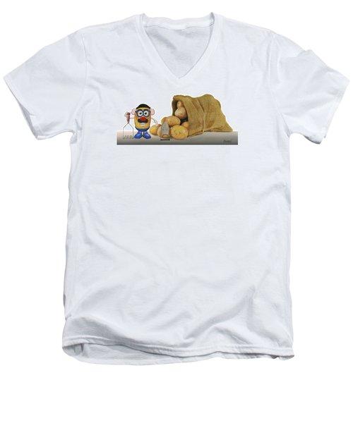 Papa Got A Brand New Bag Men's V-Neck T-Shirt by Ferrel Cordle