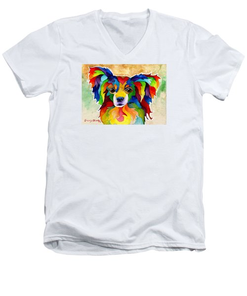 Papillon Men's V-Neck T-Shirt