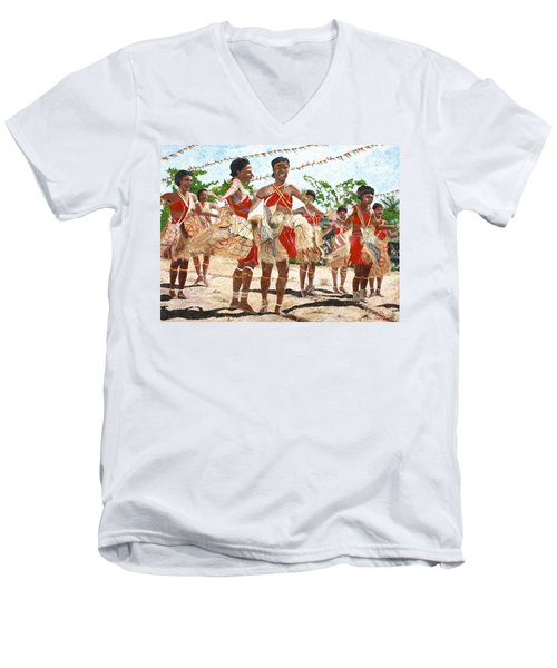 Papua New Guinea Cultural Show Men's V-Neck T-Shirt