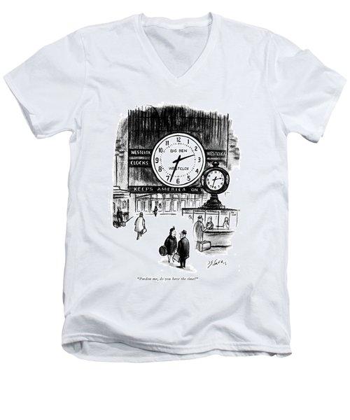 Pardon Me, Do You Have The Time? Men's V-Neck T-Shirt