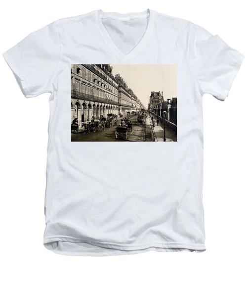 Paris 1900 Rue De Rivoli Men's V-Neck T-Shirt by Ira Shander