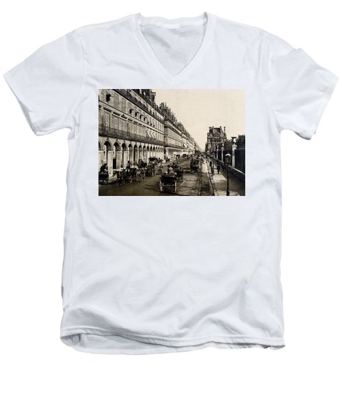 Paris 1900 Rue De Rivoli Men's V-Neck T-Shirt