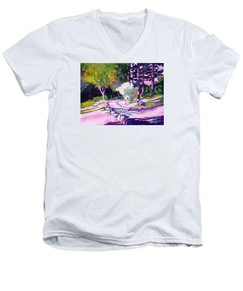 Park Trails 2           Men's V-Neck T-Shirt by Kathy Braud