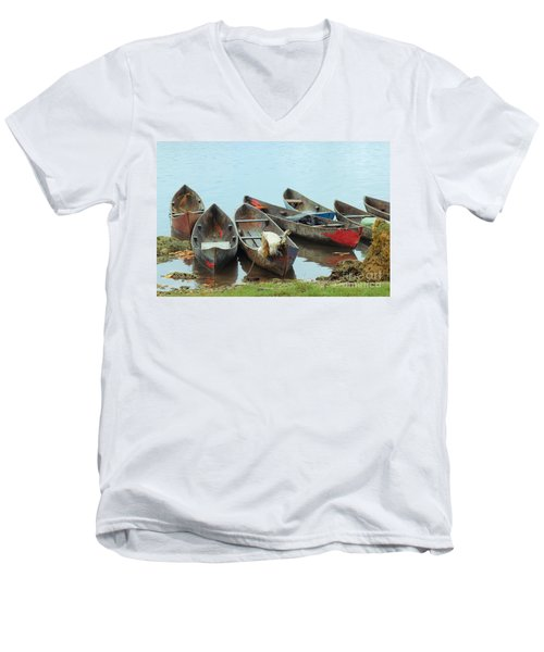 Parking Boats Men's V-Neck T-Shirt