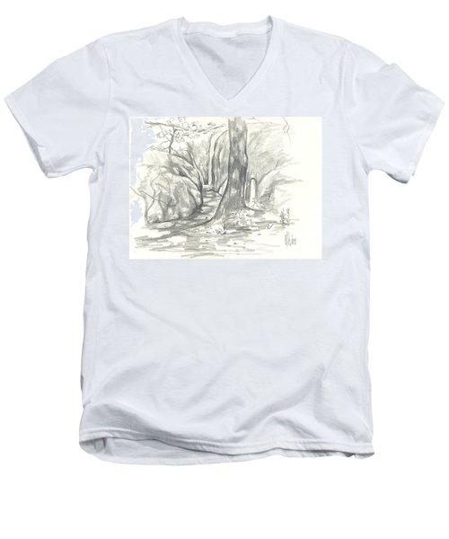 Passageway At Elephant Rocks Men's V-Neck T-Shirt