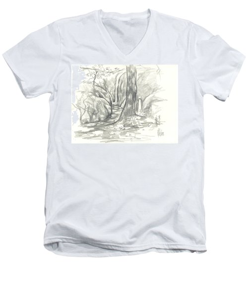 Passageway At Elephant Rocks Men's V-Neck T-Shirt
