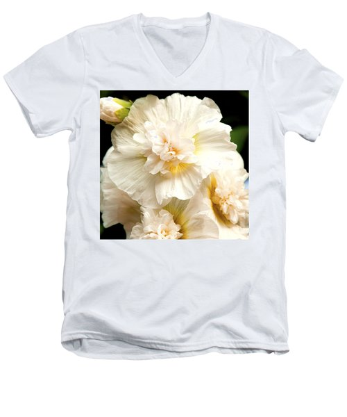 Pastel Delphinium Men's V-Neck T-Shirt by Jerry Cowart