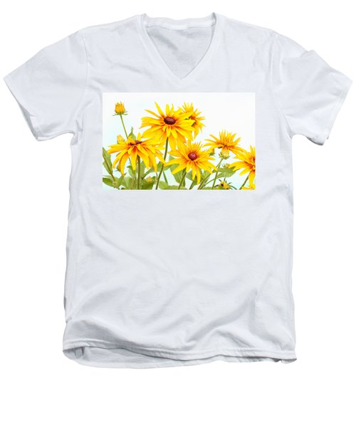 Patch Of Black-eyed Susan Men's V-Neck T-Shirt