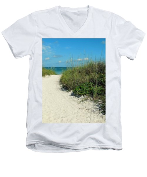 Path To Pass -a- Grille Men's V-Neck T-Shirt by Valerie Reeves