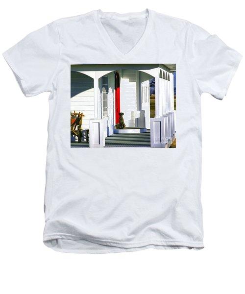 Patience Men's V-Neck T-Shirt by Steven Reed