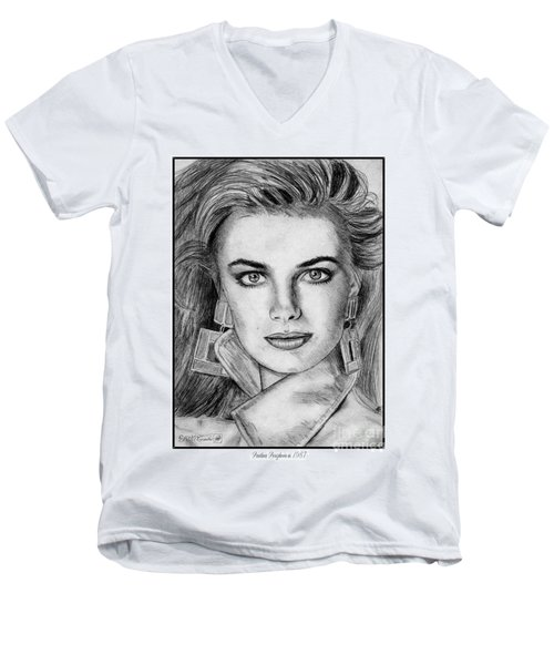 Paulina Porizkova In 1987 Men's V-Neck T-Shirt