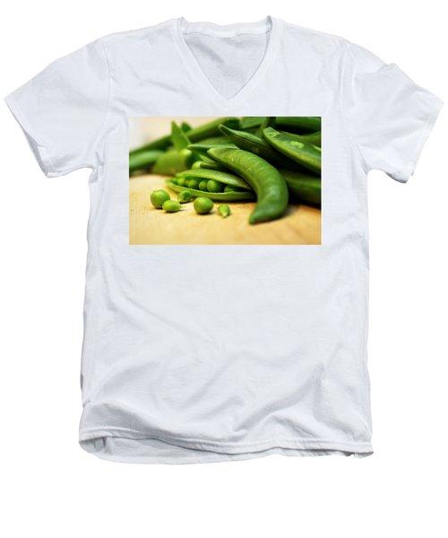 Pea Pods Men's V-Neck T-Shirt by Joseph Skompski