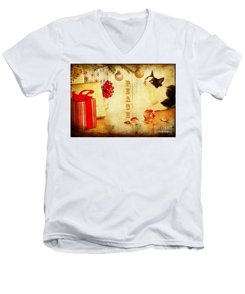 Peace And Joy To All Men's V-Neck T-Shirt