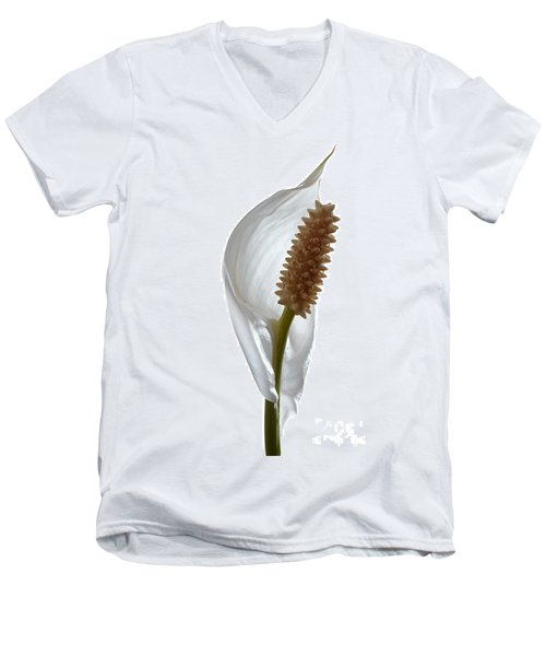 Peace Lily. Men's V-Neck T-Shirt