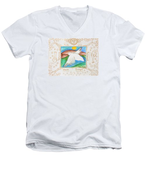 Peace Of Heaven Men's V-Neck T-Shirt by Cassie Sears