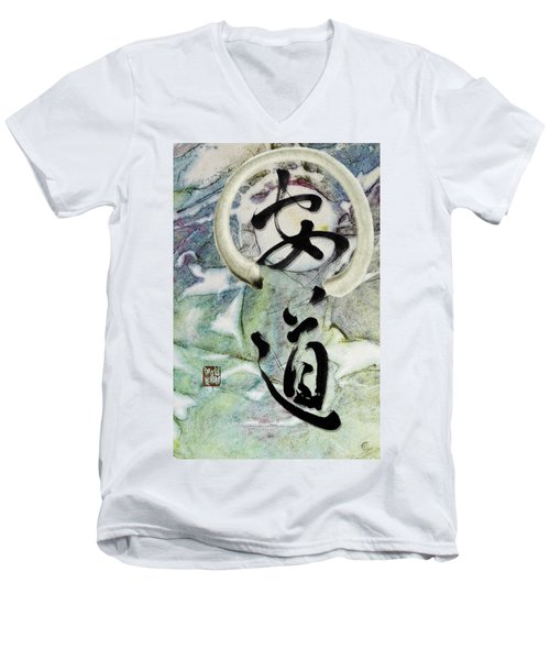 Peaceful Path With Enso Men's V-Neck T-Shirt