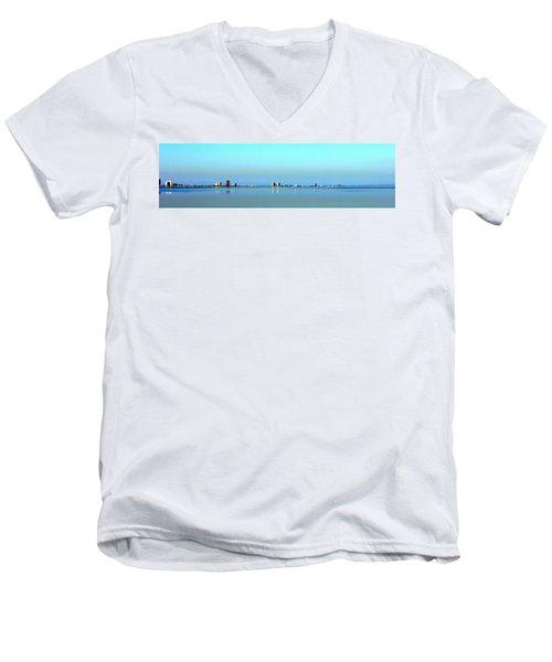 Peaceful Pensacola Beach Men's V-Neck T-Shirt