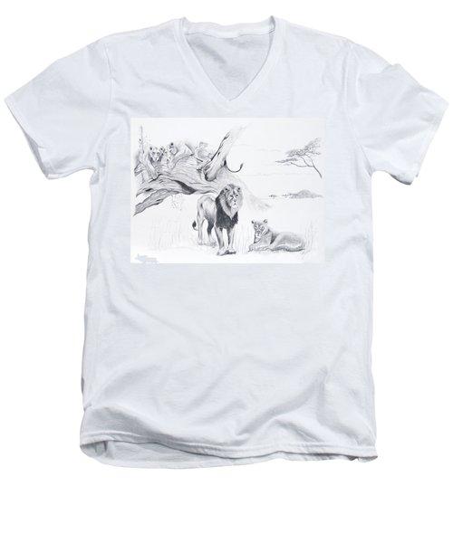 Peaceful Pride Men's V-Neck T-Shirt