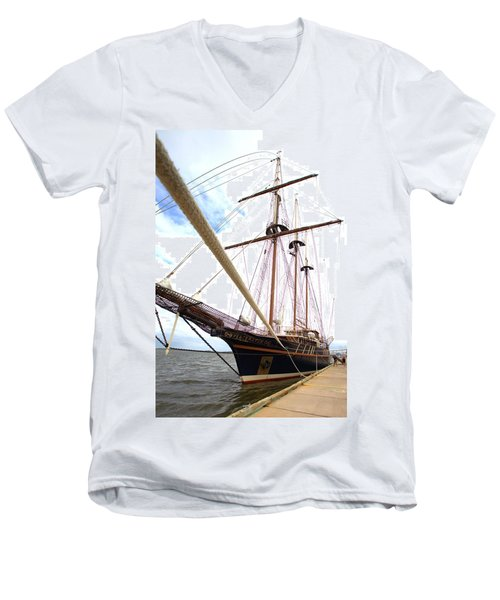 Men's V-Neck T-Shirt featuring the photograph Peacemaker by Gordon Elwell