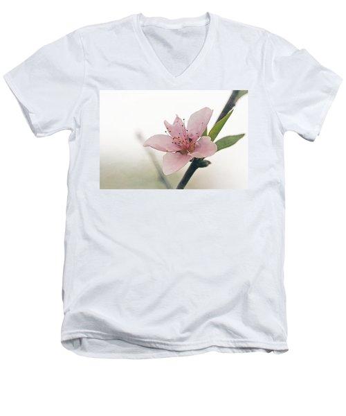 Peach Blossom Men's V-Neck T-Shirt