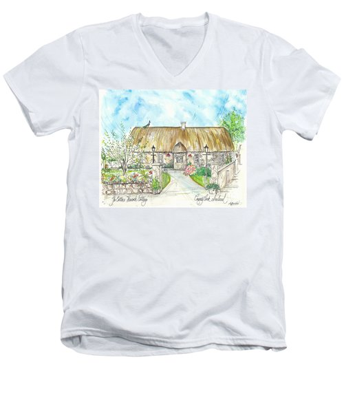 House Portrait Peacock Cottage Kanturk County Cork Ireland Men's V-Neck T-Shirt