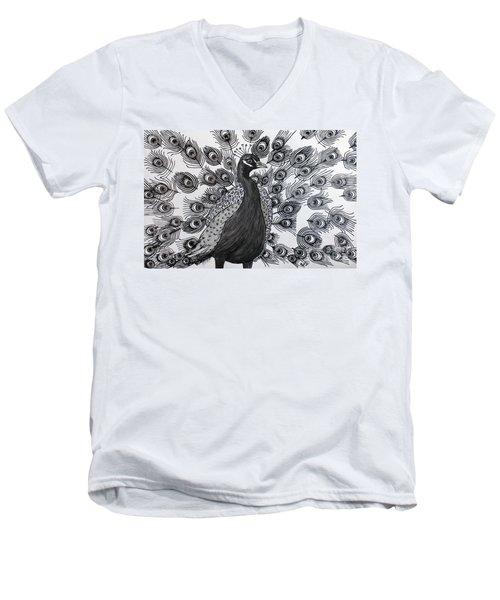 Peacock Walk Men's V-Neck T-Shirt