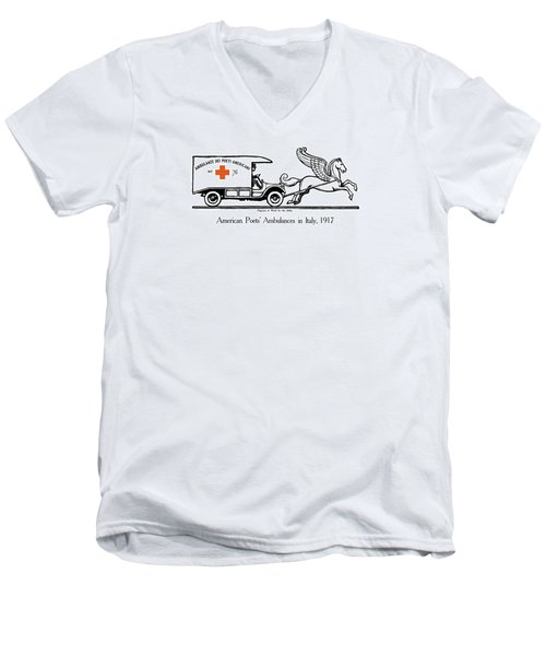 Pegasus At Work For The Allies Men's V-Neck T-Shirt