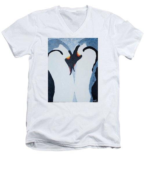Penguin Love Men's V-Neck T-Shirt