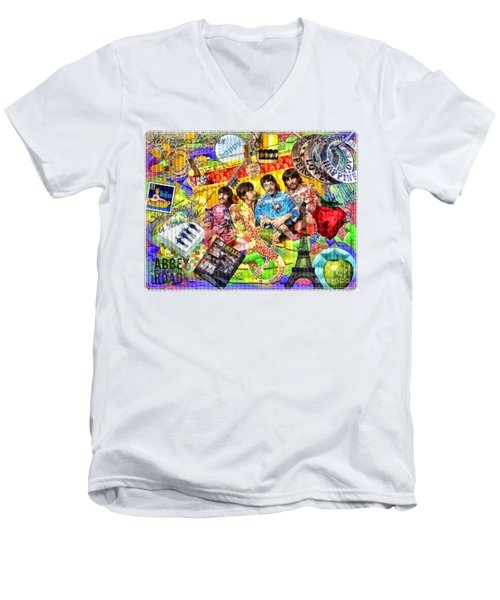 Pepperland Men's V-Neck T-Shirt