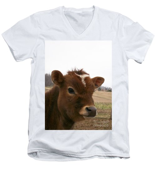 Men's V-Neck T-Shirt featuring the photograph Perfect Stance by Sara  Raber
