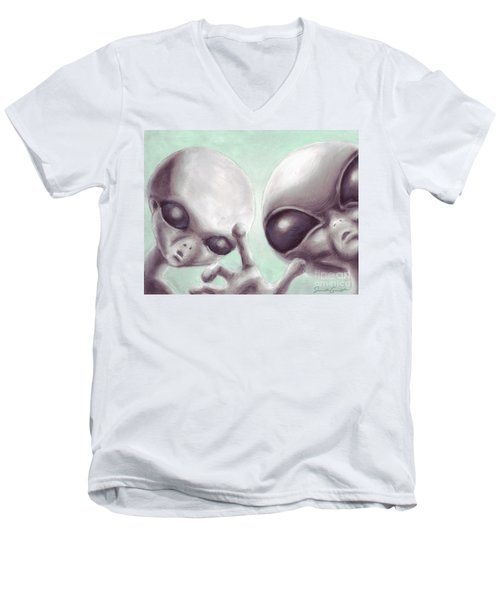 Personal Space Invaders Men's V-Neck T-Shirt by Samantha Geernaert