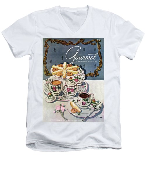 Petits Pots De Creme Men's V-Neck T-Shirt