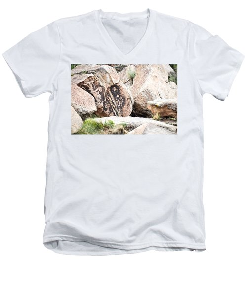 Petroglyph Men's V-Neck T-Shirt