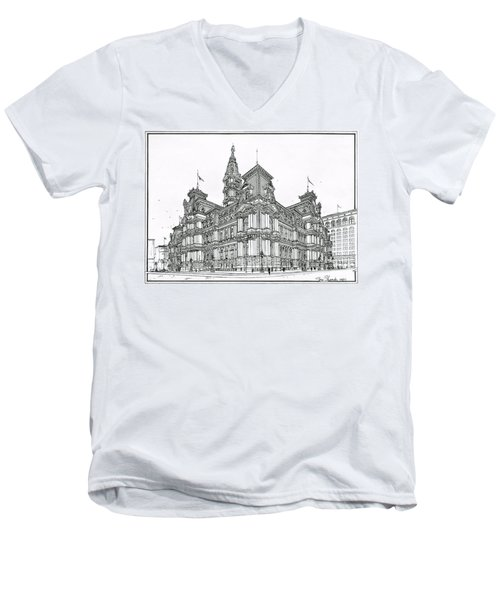 Philadelphia City Hall 1911 Men's V-Neck T-Shirt