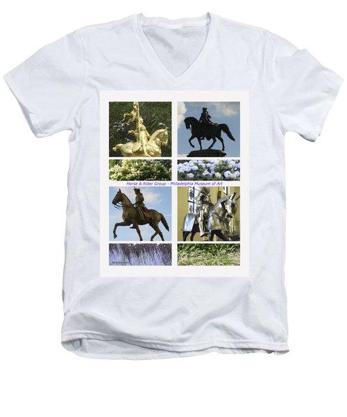 Philadelphia Museum Of Art Men's V-Neck T-Shirt