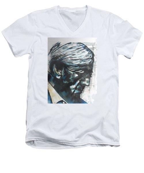 Philospher Jiddu Krishnamurti Men's V-Neck T-Shirt by Chrisann Ellis