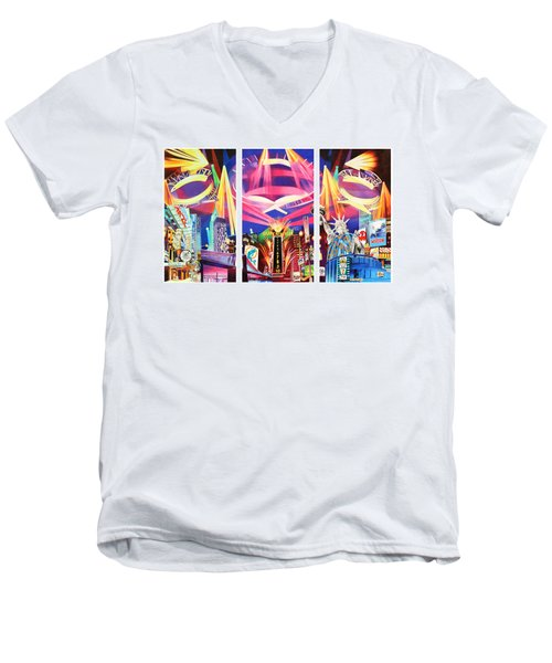 Phish New York For New Years Triptych Men's V-Neck T-Shirt by Joshua Morton