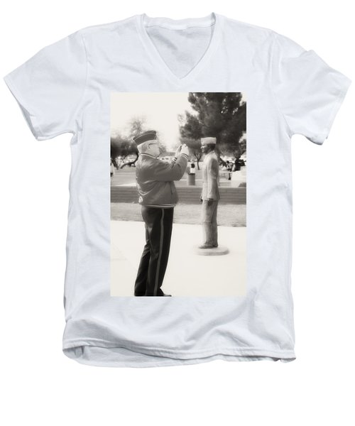 Photographing Ira Hayes Men's V-Neck T-Shirt