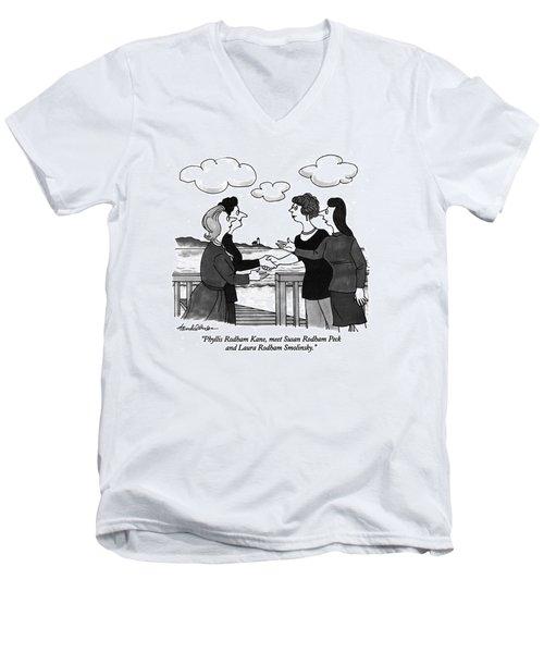 Phyllis Rodham Kane Men's V-Neck T-Shirt