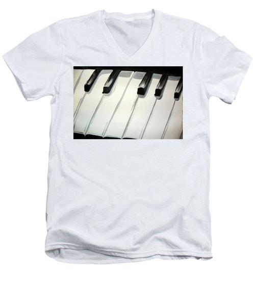 Piano Keys Men's V-Neck T-Shirt