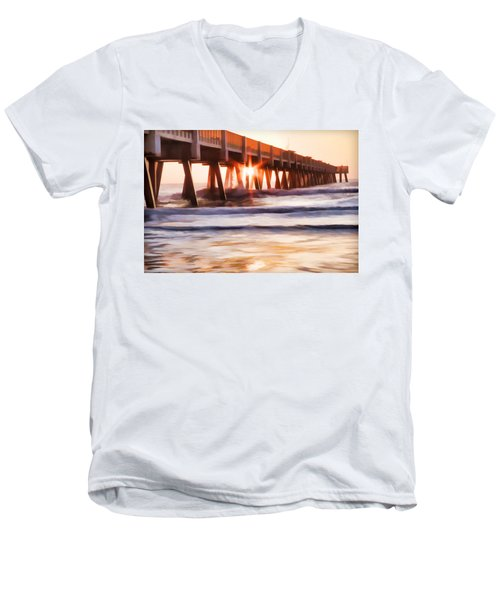 Pier Sunrise Too Men's V-Neck T-Shirt