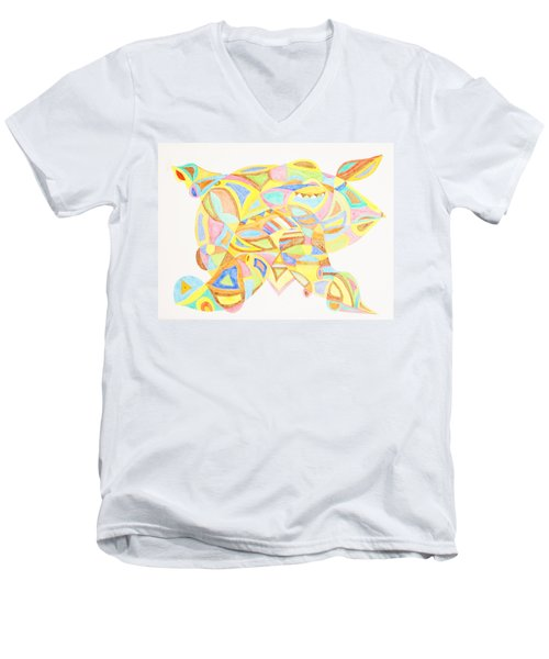 Pigs Can Fly Men's V-Neck T-Shirt