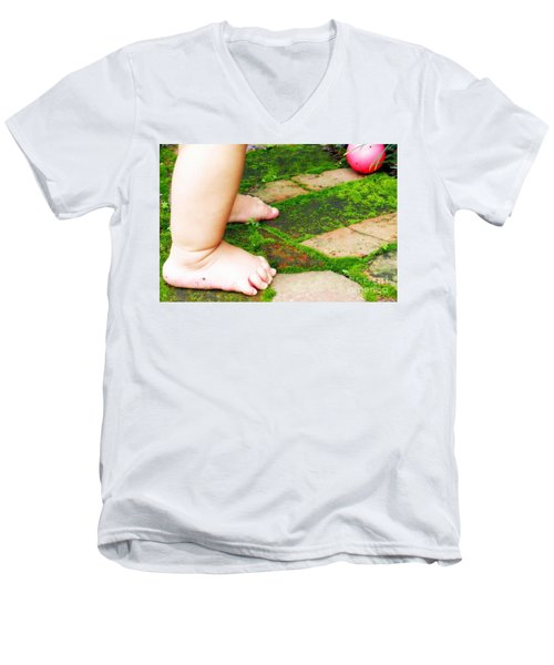 Pink Ball Men's V-Neck T-Shirt