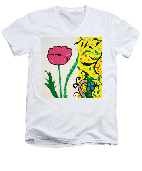 Pink Poppy And Designs Men's V-Neck T-Shirt