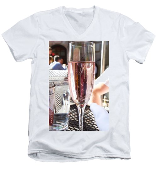 Pink Prosecco Men's V-Neck T-Shirt