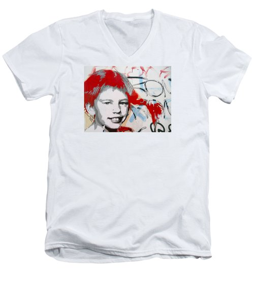Pippi Longstocking  Men's V-Neck T-Shirt