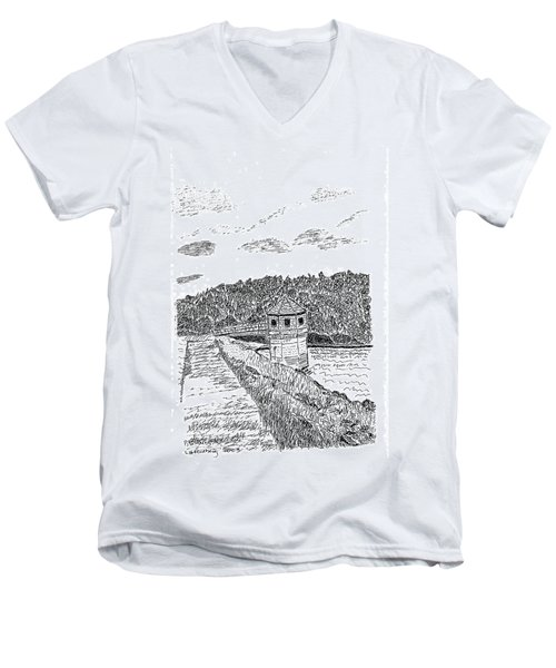 Pittsburg Dam Men's V-Neck T-Shirt