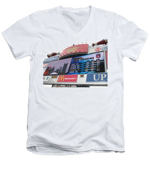 Men's V-Neck T-Shirt featuring the photograph Pittsburgh Ketchup  by Michael Krek