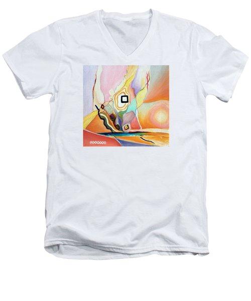 Place Of Untold Treasures Men's V-Neck T-Shirt