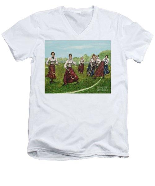 Play Of Yesterday Men's V-Neck T-Shirt